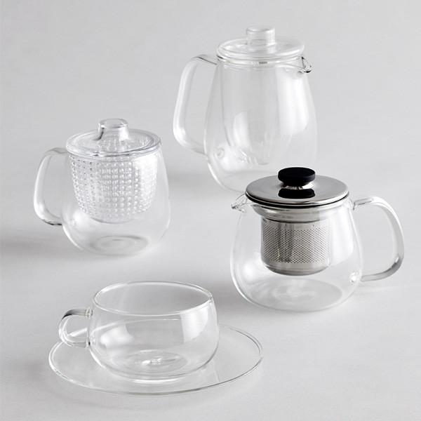 GLASS & STEEL TEAPOT