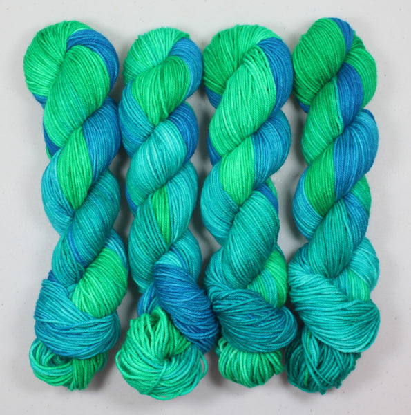 Aquamarine Manic Monday BFL DK Superwash Yarn