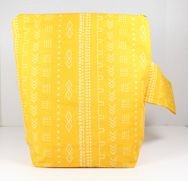Mustard Mudcloth Project Bag
