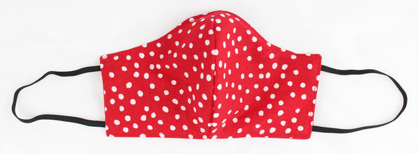 Red Dots Reversible Face Mask w/Earloops