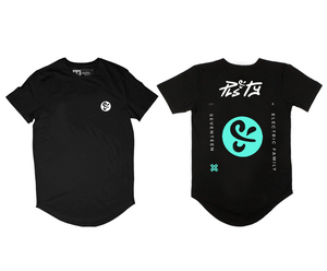 PLS&TY x Electric Family Scoop Tee - Blue