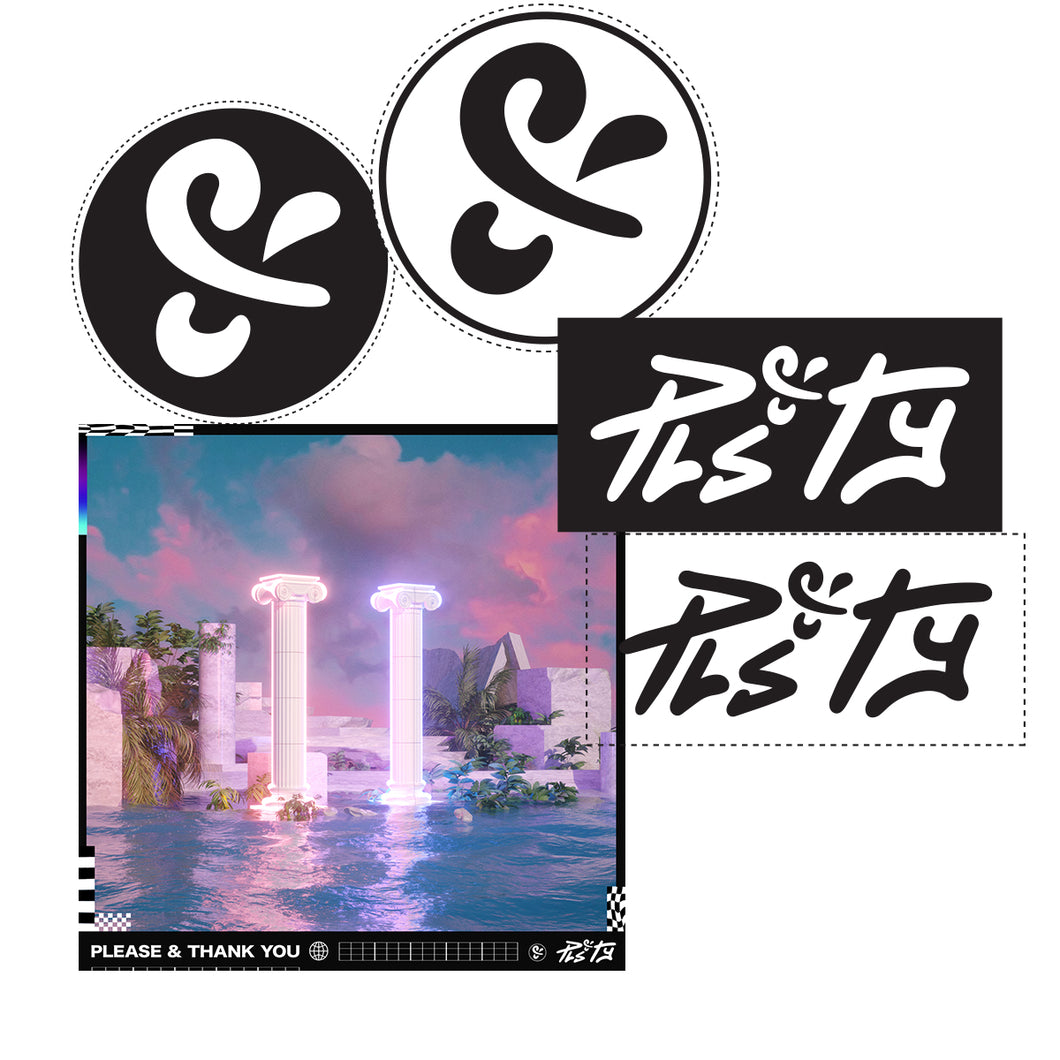 PLS&TY Sticker Pack