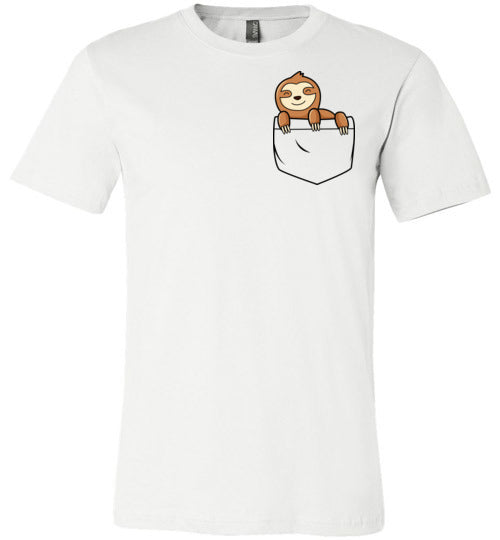Cute Sloth in a Pocket Shirt for Kids