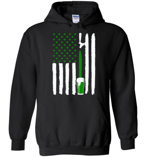 Green Irish Beer Flag Irish St Patricks Day Shirt for Men or Women