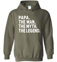 Papa The Man The Myth the Legend Pullover Hoodie