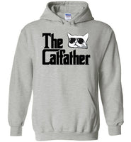 The Catfather Funny Cat Dad Hoodie Sweatshirt for Men Cat Lovers
