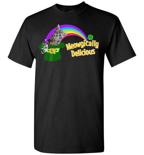 Cat St Patricks Day Shirt for Women and Men Magically Delicious Tee