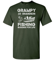 Grampy and Grandson Fishing Buddies for Life Matching Shirt for Men