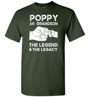 Poppy and Grandson the Legend and the Legacy Shirt for Men