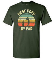 Best Pops By Par Golf Shirt for Men Grandpa Golfing Tee Gift