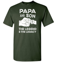 Papa and Son the Legend and the Legacy Shirt for Men