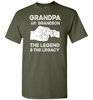 Grandpa and Grandson the Legend and the Legacy Shirt for Men