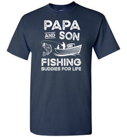 Papa and Son Fishing Buddies for Life Matching Shirt for Men