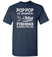 Pop Pop and Grandson Fishing Buddies for Life Matching Shirt for Boys