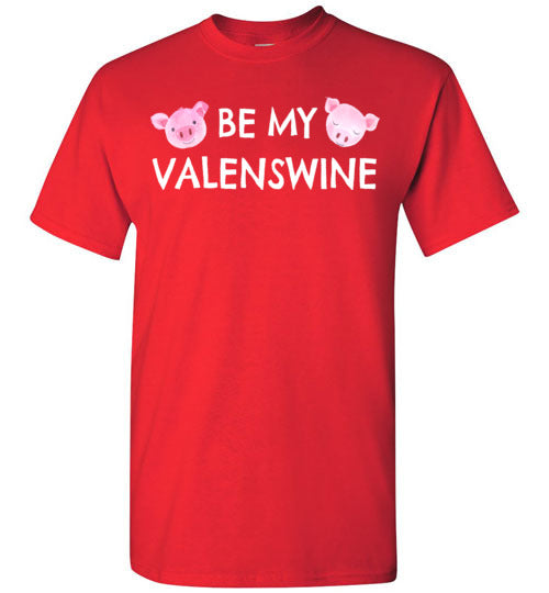 Be My Valenswine Valentines Day T-Shirt for Men, Women, and Kids