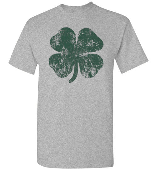 Distressed Shamrock St Patricks Day T-Shirt for Men, Women, and Kids