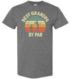 Best Grandpa By Par Golf Shirt for Men Grandpa Golfing Tee Gift