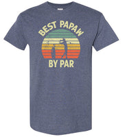 Best Papaw By Par Golf Shirt for Men Grandpa Golfing Tee Gift