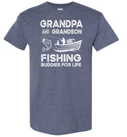 Grandpa and Grandson Fishing Buddies for Life Matching Shirt for Men