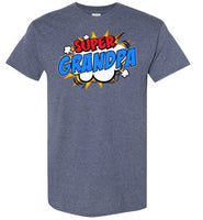 Super Grandpa Cartoon Bubble Retro Comic Style Shirt