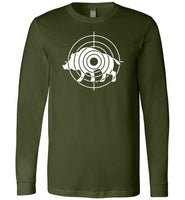 Boar Hunting Target Shirt for Men Gift for Wild Pig Hunter