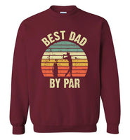 Best Dad By Par Vintage Sunset Golf Sweatshirt