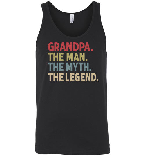 Grandpa The Man The Myth the Legend Tank Top