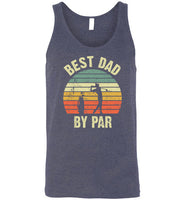 Best Dad By Par Vintage Sunset Golf Tank Top