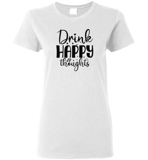 Drink Happy Thoughts Crewneck T-Shirt