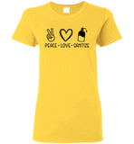 Peace Love Sanitize Crewneck T-Shirt