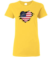 American Flag Heart Shirt