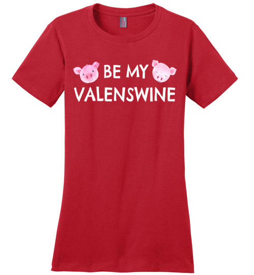Be My Valenswine Valentine's Day Pig T-Shirt for Women and Teens