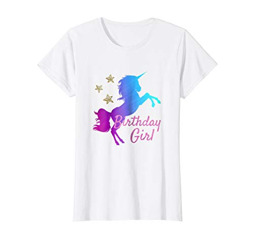 Unicorn Birthday T-Shirt - Birthday Outfit & Gift for Girls