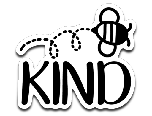 Bee Kind Vinyl Decal Sticker