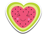 Kawaii Watermelon Heart Vinyl Decal Sticker