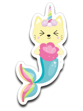 Cat Unicorn Mermaid Caticorn Vinyl Decal