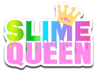 Slime Queen Rainbow with Crown Vinyl Decal Sticker
