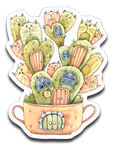 Cat Cactus Vinyl Decal Sticker