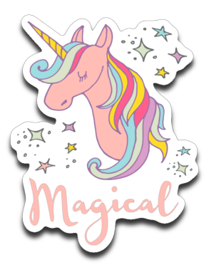 Magical Unicorn Vinyl Decal Sticker