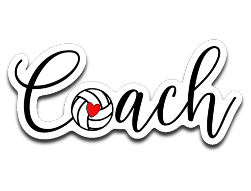 Volleyball Coach Vinyl Decal