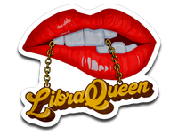 Libra Queen Lips and Chain Vinyl Decal Sticker