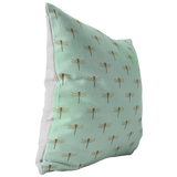 Mint Green Dragonfly Pillow or Pillow Cover | Cute Easter or Spring Home Decor