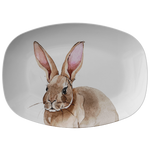 Rabbit Platter Easter Serving Tray