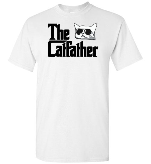 The Catfather Funny Cat Dad Shirt for Men Cat Lovers