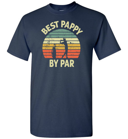 Best Pappy By Par Golf Shirt for Men Grandpa Golfing Tee Gift