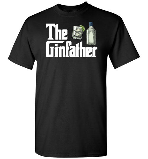 The Ginfather Funny Shirt for Men Gin Drinkers Lovers