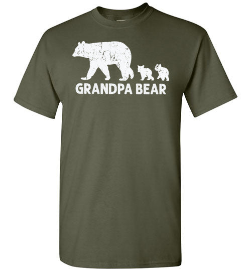 Grandpa Bear Shirt for Men Bears Two Cubs Gift for Grandfather
