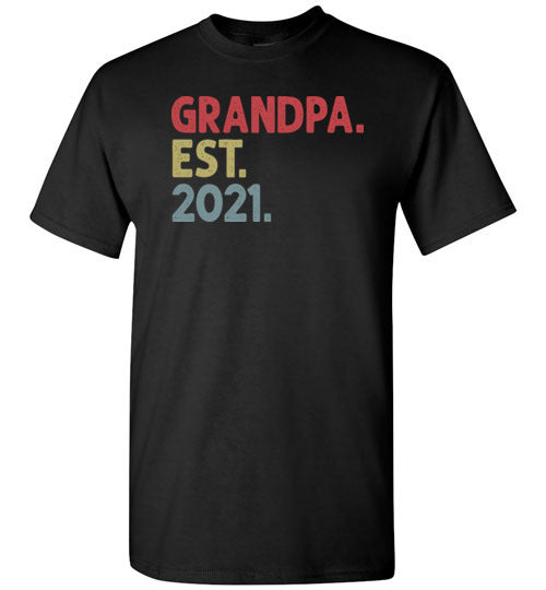 Grandpa Est 2021 Shirt for New & Expecting Grandpas