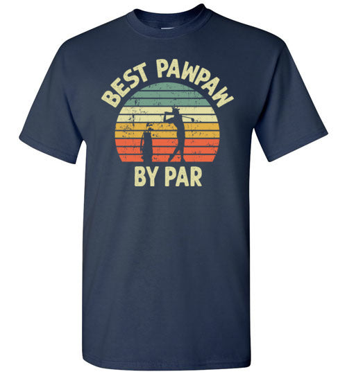Best Pawpaw By Par Golf Shirt for Men Grandpa Golfing Tee Gift