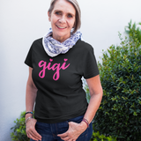 Gigi Shirt for Grandma with Hearts V-Neck